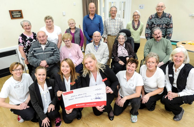 £3,000 donation from Santander Foundation