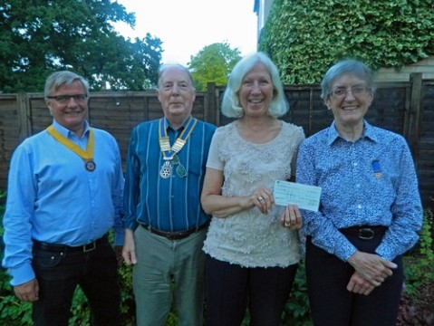 Cheque Presentation from Hereward Rotary Club of Ely