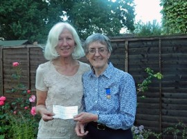 Cheque presentation from reward Rotary Club
