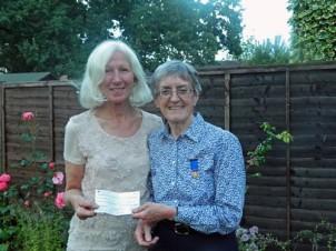 Cheque presentation from reward Rotary Club