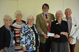 £1300 donation from Ely Mayor's Ball